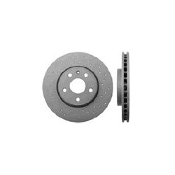 Brake disc Front axle perforated/ internally vented, SAAB 9-5