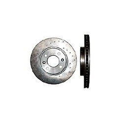 Brake disc Front axle perforated, SAAB 9000