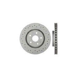 Brake disc Front axle perforated/ internally vented