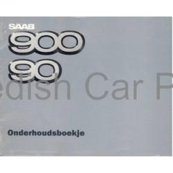Origineel SAAB 90 onderhoudsprogramma